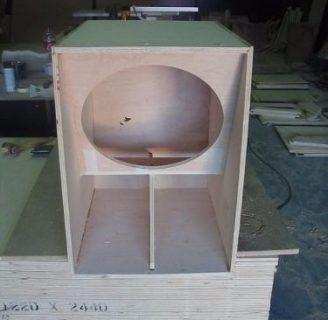 como hacer cajas para parlantes de 15 pulgadas: plano y explicaciones