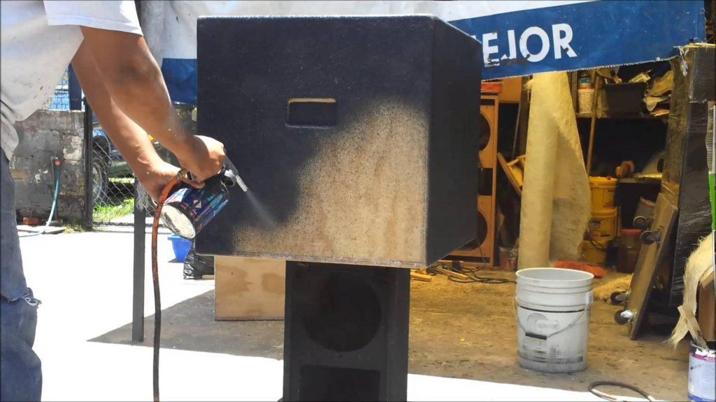 como texturizar cajas acusticas