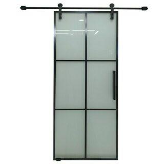 Rociadores, puertas de vidrio y escaleras auxiliares muy espaciados