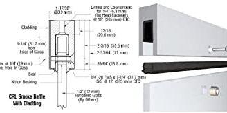 Zapata de aluminio con deflector de humo de aluminio Crl B5b10 Mill para 1